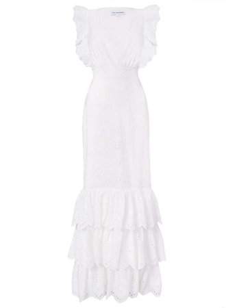 White Broderie Maxi Dress