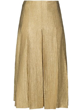 Fendi metallic-effect A-line Midi Skirt - Farfetch
