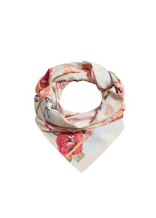 Violeta BY MANGO Flowers printed scarf