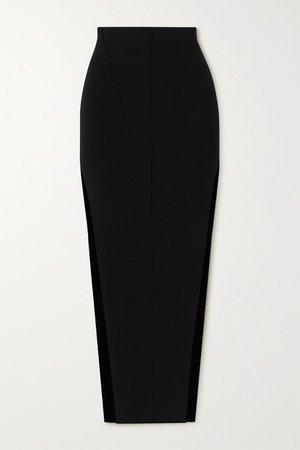Black Gonna stretch-knit maxi skirt | Rick Owens | NET-A-PORTER