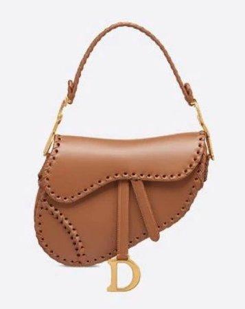 leather dior saddle bag