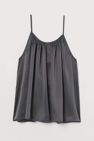 Silk Camisole Top - Gray