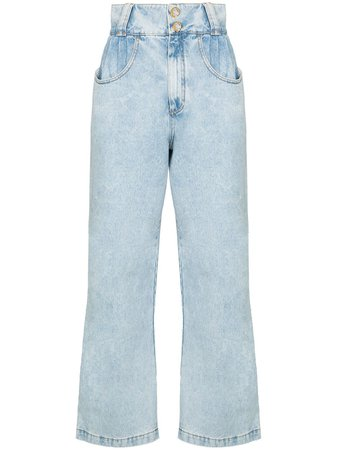 Alessandra Rich crystal-wide-leg Jeans - Farfetch