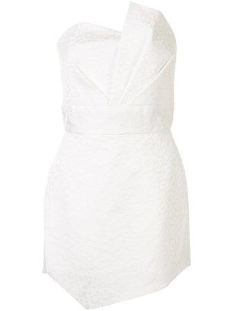 Michelle Mason leopard-print Strapless Dress - Farfetch