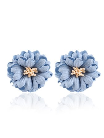 Layered Flower Stud Earrings