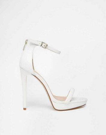 White Platform Sandal Heels