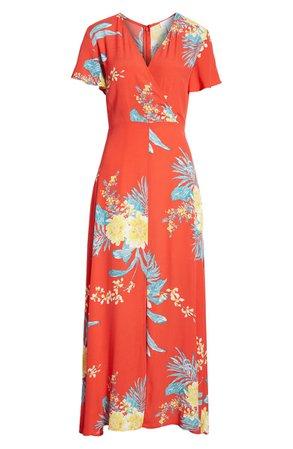 Leith Surplice Maxi Dress | Nordstrom