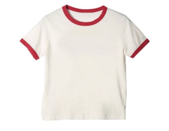 Red & White Baseball Shirt