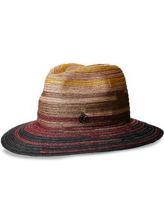 Maison Michel Henrietta woven fedora hat - FARFETCH