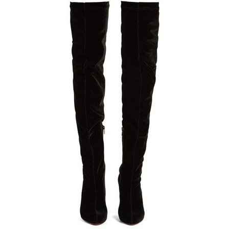 black over the knee boots polyvore – Pesquisa Google