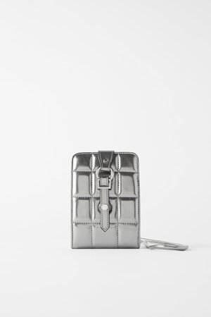 PADDED CELL PHONE WALLET | ZARA United States silver