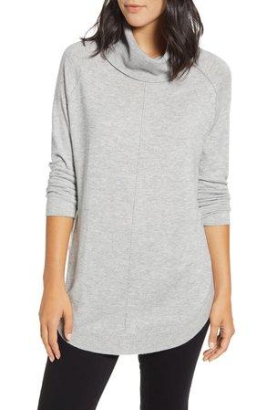 Caslon® Turtleneck Tunic Sweater   Nordstrom