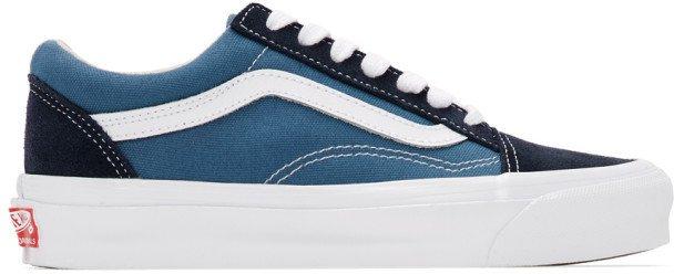 Blue and Navy OG Old Skool LX Sneakers