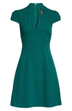 Vince Camuto Kors Notch Neck Fit & Flare Dress | Nordstrom