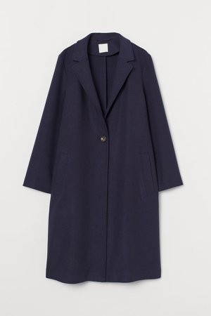 Single-breasted Coat - Blue