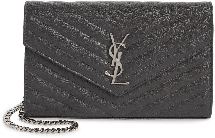Monogram Quilted Leather Wallet on a Chain