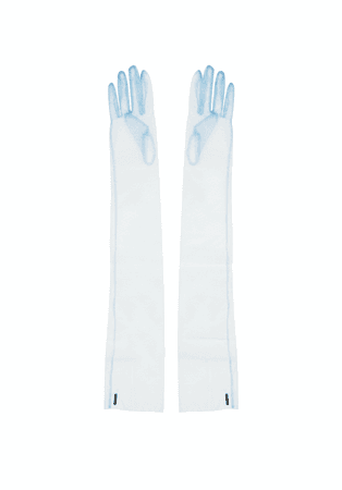 Sheer Tulle Opera Gloves ( Light Blue ) · CREEPYYEHA · Online Store Powered by Storenvy
