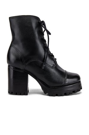 Schutz Lace Up Boot in Black   REVOLVE