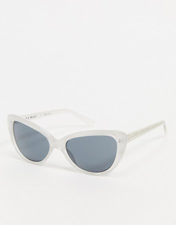 AJ Morgan Smirk oversized sunglasses in white | ASOS