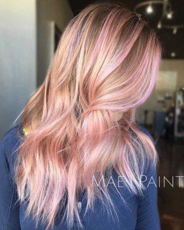 Blonde & Pink Hair