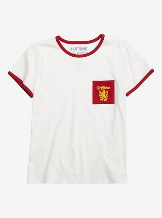 Harry Potter Gryffindor Pocket Girls Ringer T-Shirt