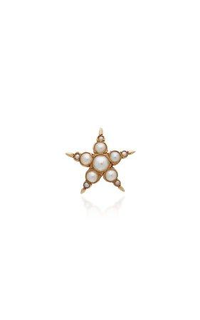 18K Gold Pearl Earring by VELA | Moda Operandi