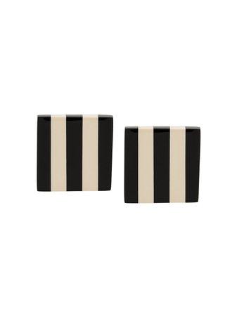 Monies Square Striped Earrings - Farfetch