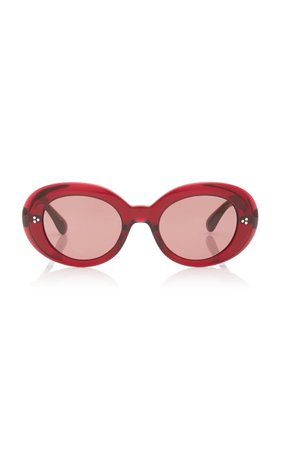 Erissa Round-Frame Acetate Sunglasses by Oliver Peoples | Moda Operandi