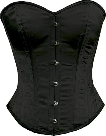 *clipped by @luci-her* Orchard Corset CS-530 Overbust Black Satin Corset - Size 18 at Amazon Women's Clothing store