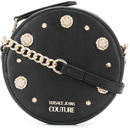 embellished circle crossbody bag