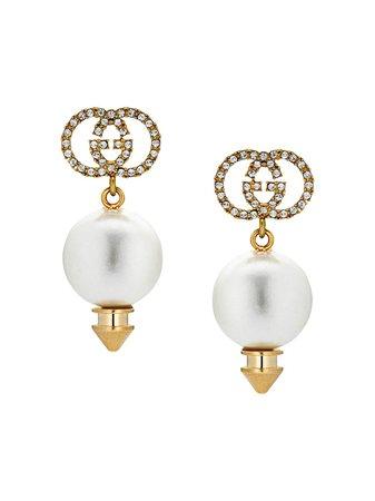 Gucci Gg Faux Pearl Earrings Aw20 | Farfetch.Com