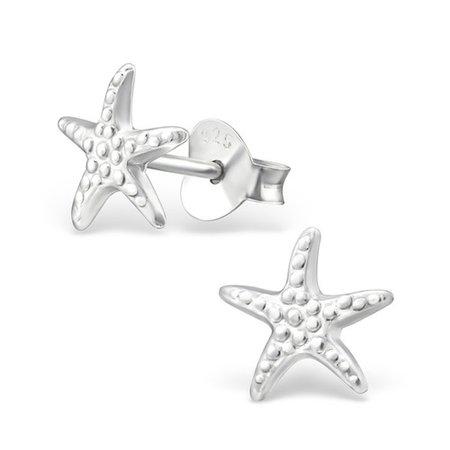 Starfish Silver Ear Studs