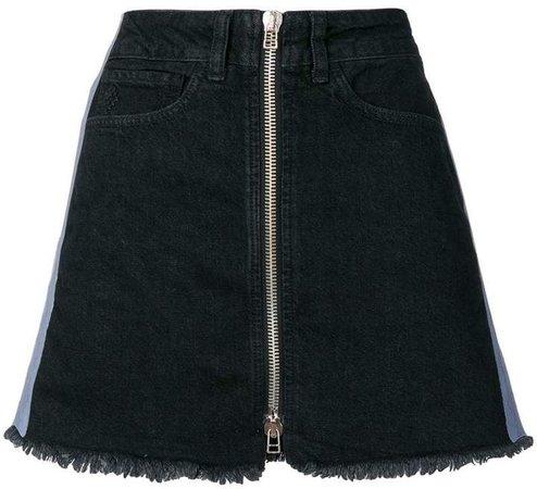 Cross tape denim skirt