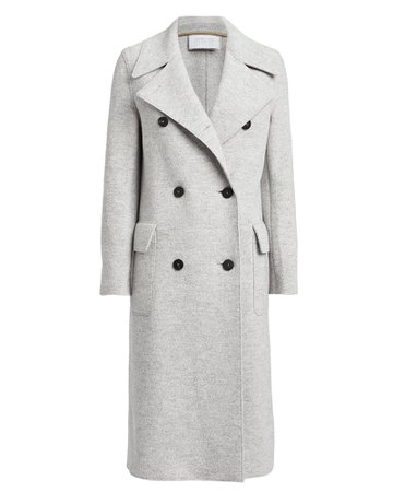 Boiled Wool Double Breasted Military Coat