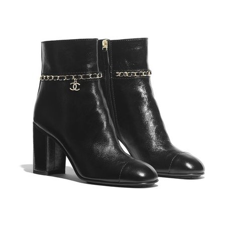 Calfskin Black Ankle Boots ($1375)