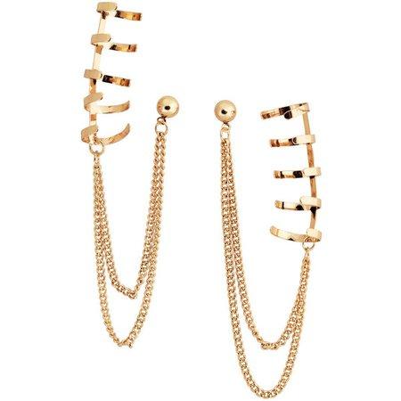 gold ear cuffs polyvore - Pesquisa Google