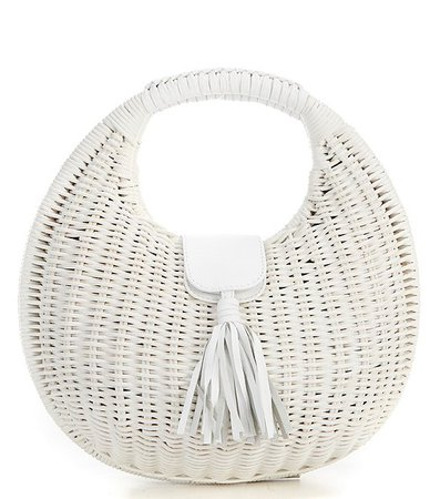 Cleobella Olivia Wicker Top Handle Basket Bag | Dillard's