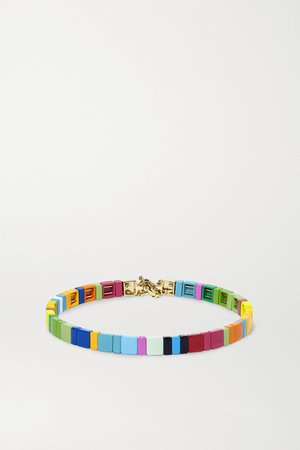 Blue Starburst enamel and gold-tone choker | Roxanne Assoulin | NET-A-PORTER