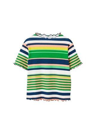 MANGO Printed trim t-shirt