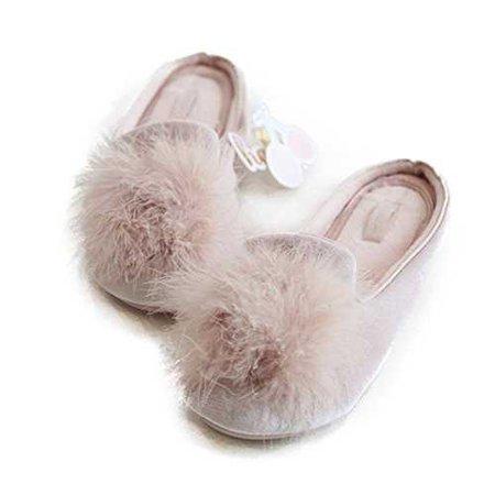Amazon.com | HALLUCI Women's Cozy Velvet Memory Foam House Slippers w/Non Slip Soles | Slippers