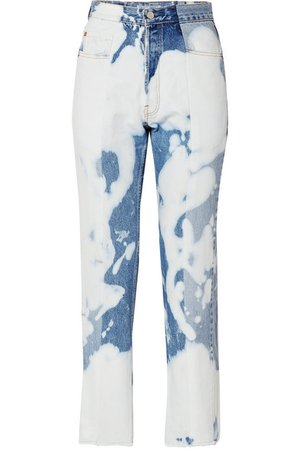 E.L.V. Denim | The Twin bleached high-rise straight-leg jeans | NET-A-PORTER.COM