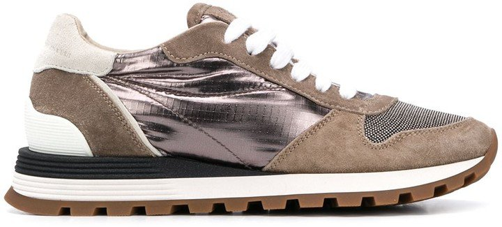Low Top Panelled Sneakers