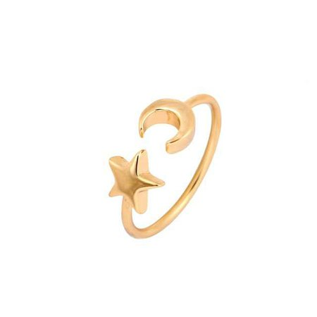 Shuangshuo 2017New Fashon Gold Silver and Rose Gold Color Adjustable Crescent Moon and Tiny Star Rings for Women JZ161-in Rings from Jewelry & Accessories on Aliexpress.com | Alibaba Group
