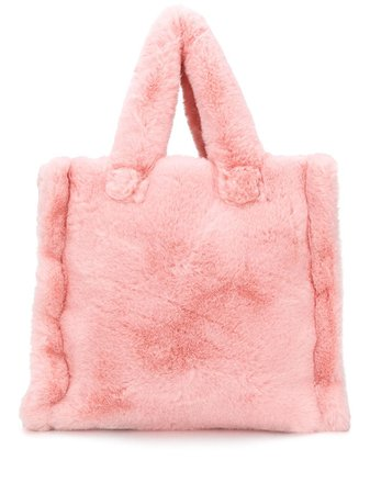 STAND STUDIO faux-fur Tote Bag - Farfetch
