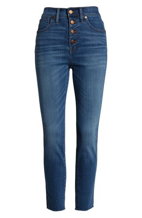 Madewell 10-Inch High Waist Button Front Crop Skinny Jeans (Hayden) (Regular & Plus Size)   Nordstrom