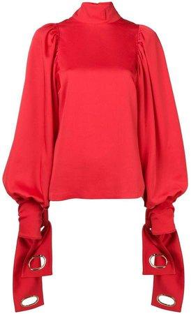 eyelet sleeve blouse