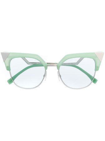 Fendi Eyewear Cat Eye Frame Sunglasses - Farfetch