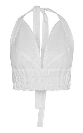 Linen Halter Neck Bralette by MATÉRIEL | Moda Operandi