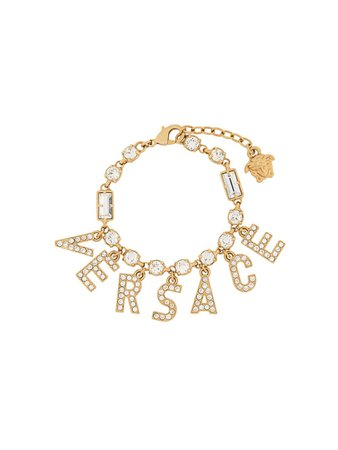 Versace Bracelet à Breloques Logo - Farfetch