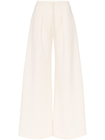 Vika Gazinskaya Quilted wide-leg Trousers - Farfetch